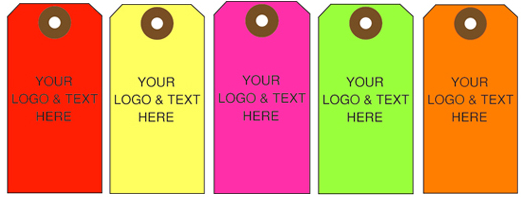 Custom Fluorescent Hang Tags from St. Louis Tag Co.