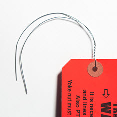 12 in. x 23 Gauge Twisted Wire Hang Tag Attachment