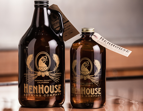 Custom Printed Hang Tags for Beer Growlers at HenHouse Brewing Company by St. Louis Tag