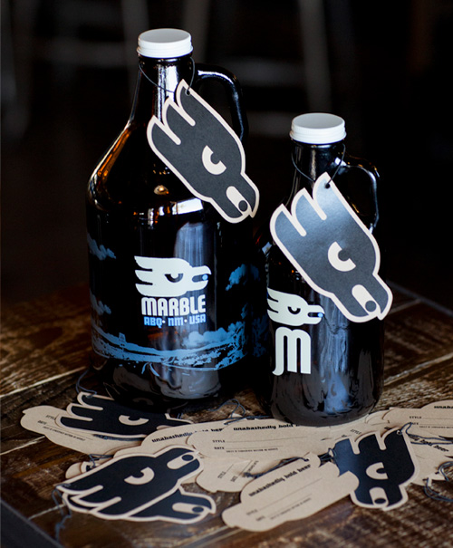 Custom Printed Hang Tags for Beer Growlers at Marble Brewery by St. Louis Tag