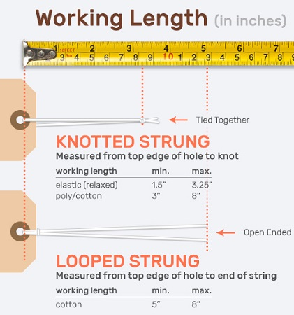 Standard Material Working Length - String