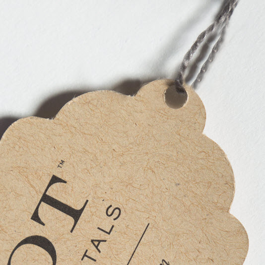 Custom Scalloped Hang Tag