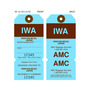 Custom Airline Hang Tag - IWA
