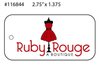 Custom 4 Color Boutique Hang Tag - Ruby Rouge