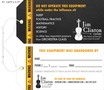 Custom 4 Color Hang Tag - Jim Clinton Violins LLC