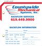 Custom 4 Color Hang Tag - Countywide Mechanical Systems Inc.
