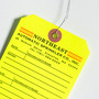 Custom Clipped Corner Hang Tag - Northeast Automatic Sprinkler Co., Inc.