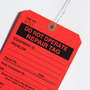 Custom Clipped Corners Hang Tag - Do Not Operate