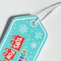 Custom Diecut Corners Hang Tag - Winter Scene Toys for Tots Hang Tag