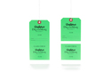 Horizontally Perforated Hang Tag - Resort Claim Check