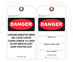 Asbestos Fibers Danger Tag – U.S. Government Publishing Office