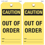 Caution Out Of Order Hang Tag