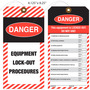 Danger Equipment Lock-Out Procedure Tag
