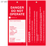 Danger Do Not Operate This Equipment Tag