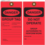 Danger Do Not Operate Group Tag