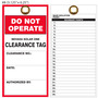 Nevada Solar One Do Not Operate Clearance Tag
