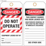 Custom Lockout/Do Not Operate Hang Tag