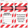 Custom Danger/Locked Out Equipment Hang Tag
