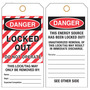 Custom Printed Hang Tag - Lockout Danger
