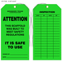Brinker Team Scaffolding Inspection Tags