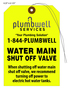 Water Shut Off Tag - Plumbwell Services
