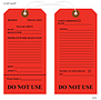 Do Not Use 2 – Medical Equipment Tag