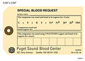 Special Blood Request – Hospital Tag