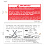 Red & White Rectangle Warning Hang Tag with Hole for Attachment