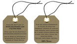 Square Description Hang Tag with Clipped & Rounded Corners & Knotted String for Nice Wines