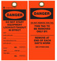 Custom Tyvek Caution/Lockout Hang Tag (114803)