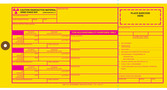 Yellow Rectangle Tyvek Baggage Hang Tag