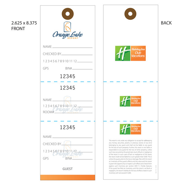 Custom Printed Baggage Luggage Tags Hotel Tags  St Louis Tag