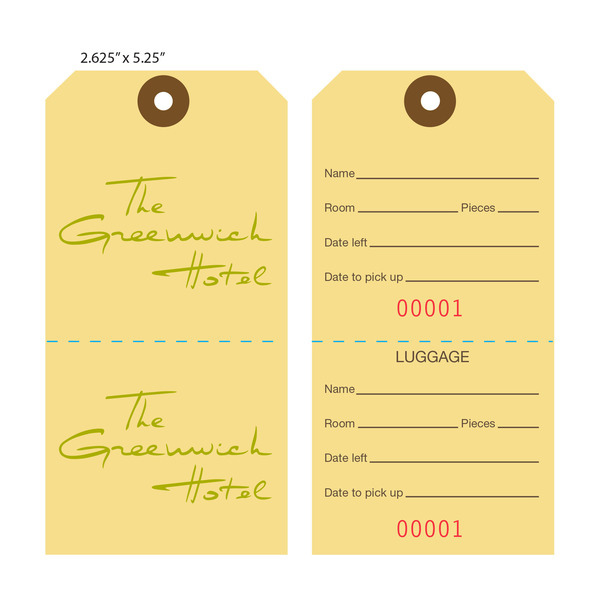 Custom Printed Baggage Luggage Tags Hotel Tags – Sample Luggage Tag Template Example