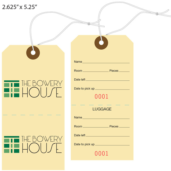 Custom Printed Baggage, Luggage Tags, Hotel Tags | St. Louis Tag