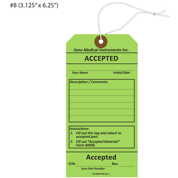 Custom Printed Accepted Hang Tags | St  Louis Tag