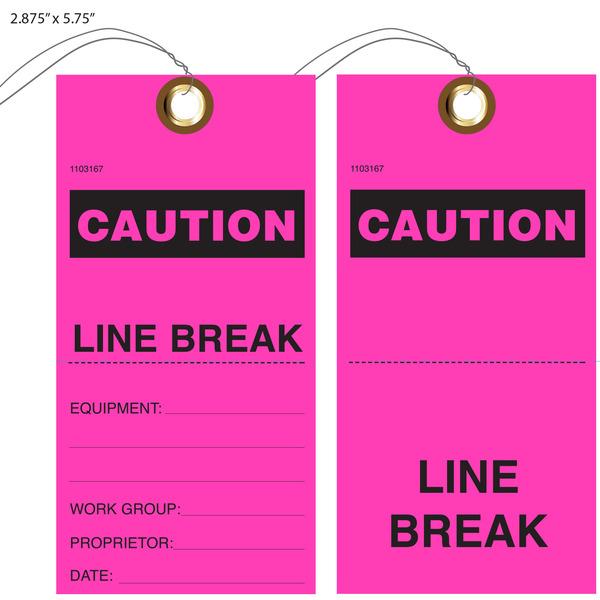Custom Printed Caution Hang Tags St Louis Tag