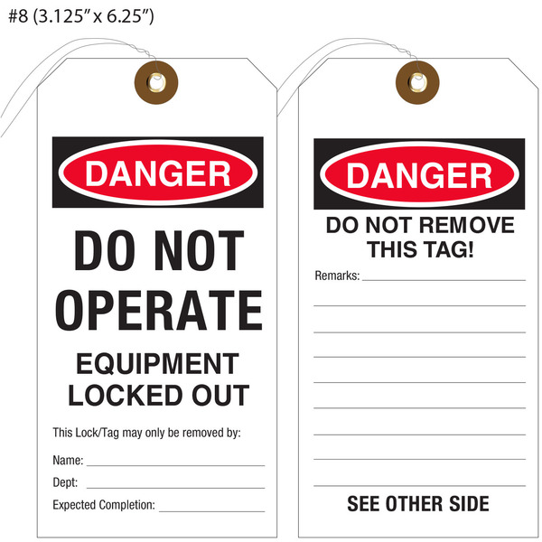 Custom Printed Do Not Operate Hang Tags St Louis Tag