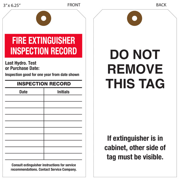 Custom Printed Fire Extinguisher Hang Tags | St. Louis Tag