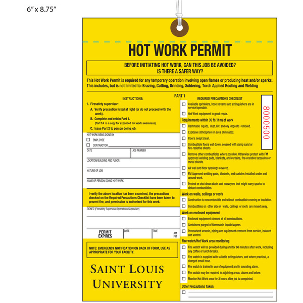 Fm Global Hot Work Permit Pictures to Pin on Pinterest ...