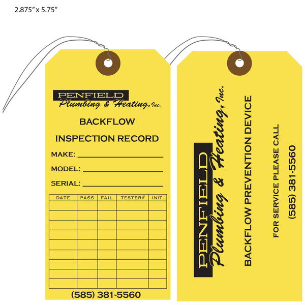 fire extinguisher inspection tag template - custom printed inspection hang tags st louis tag