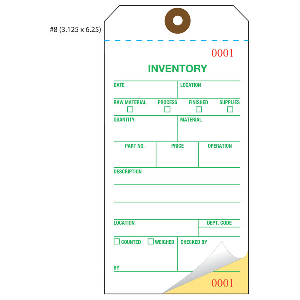 Custom Inventory Hang Tags, Numbered, Part, Asset | St. Louis Tag