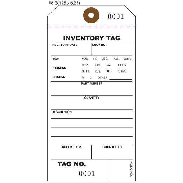 custom inventory hang tags numbered part asset st louis tag. Black Bedroom Furniture Sets. Home Design Ideas