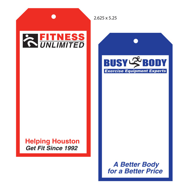Custom Boutique Hang Tags Fitness Unlimited Busy Body