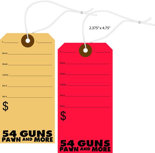 Custom Printed Pawn Shop Price Tags St Louis Tag