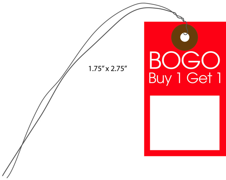 Store Tags: Custom Printed BOGO Price Tags For Retail Stores