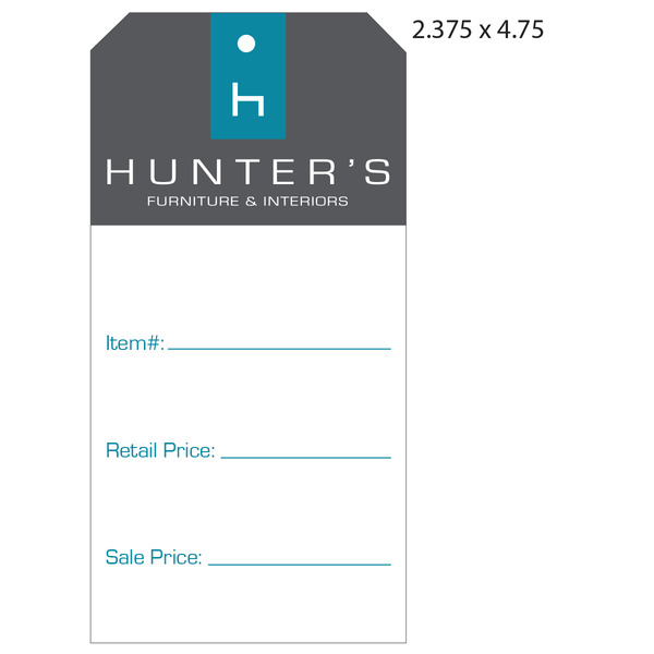 Custom Furniture Hang Tag   Hunteru0027s Furniture