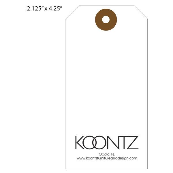 Custom Furniture Hang Tag   Koontz