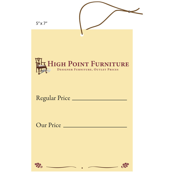 Perfect Custom Furniture Hang Tag   High Point Furniture