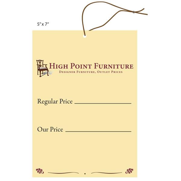 Furniture Pricing: Custom Printed Price Tags / Hanging Price Tags