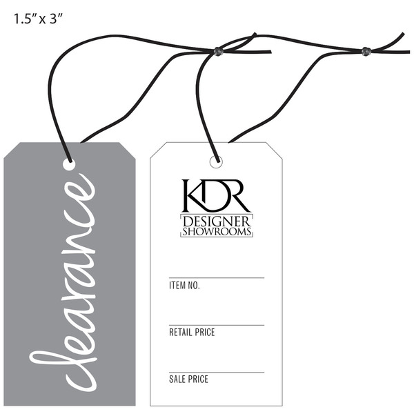 Custom Furniture Hang Tag   KDR Showroom